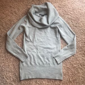 French Connection CowlNeck Sweater in Heather Grey